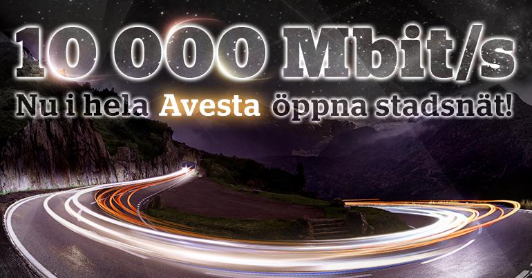 Avesta har världens första öppna stadsnät med 10 Gbit/s