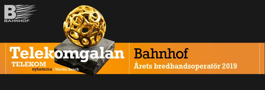 """Bahnhof vinner pris som """"Årets bredbandsoperatör""""!"""
