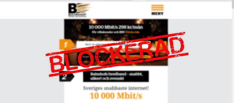 Bara Patent- och marknadsdomstolen verkar tro att blockering av sidor fungerar