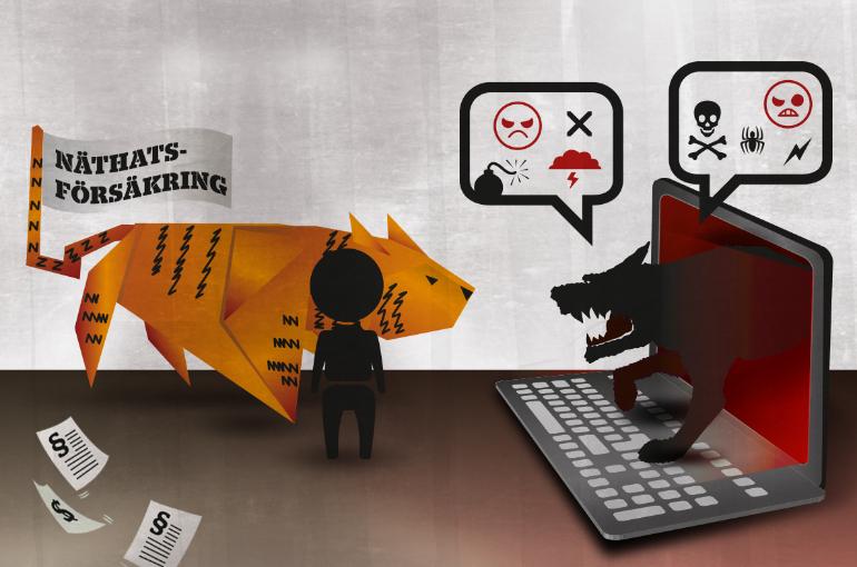 Försäkrad mot näthat – men bara om du inte försvarar dig