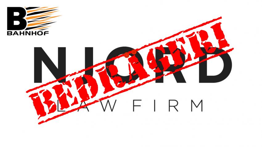 DANSKA MYNDIGHETER AGERAR: NJORD Law Firm åtalas för grovt bedrägeri